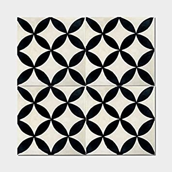 Moroccan Mosaic Pack Of Amlo Circle Handmade Cement And Granite - 8 inch square ceramic tiles