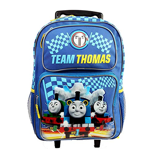 Backpack Friends Rolling (3D Thomas Rolling Backpack Team Thomas and Friends Train Engine Backpack Everyday Bag All Purpose (Large 16