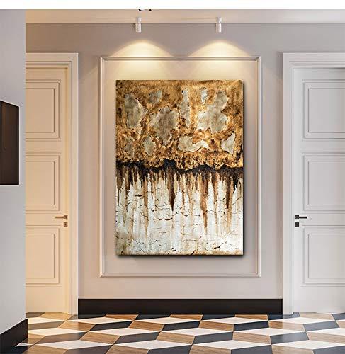 Amazon.com: Faicai Art Abstract Metallic Gold Silver Canvas ...
