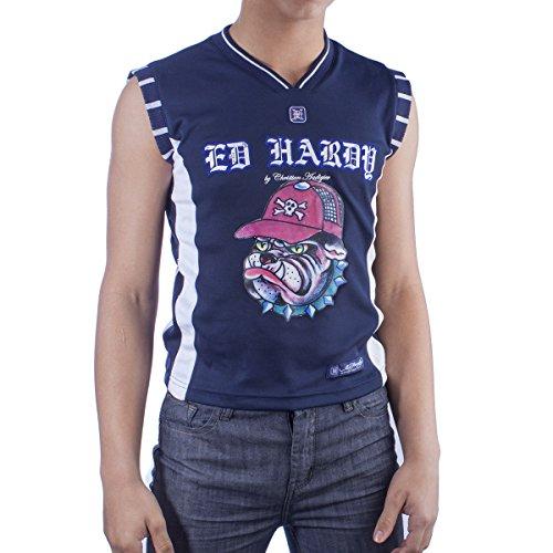 Ed Hardy Big Boys' Sport Vest- Navy - Medium