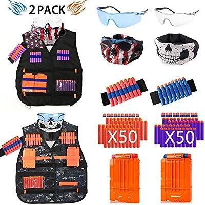 NERF Vest Gun Tactical Kids Jacket GFU for Boys Utility Ammo NURF n Accessories