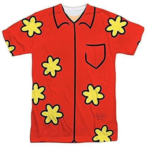 Family Guy - Quagmire Costume Tee (Front/Back Print) T-Shirt Size XXL (Glenn Quagmire Kostüm)