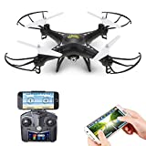 Holy Stone HS110 FPV RC Drone with Camera 720P HD Live Video WiFi 2.4GHz 4CH 6-Axis Gyro RC Quadcopter with Altitude Hold, One Key Return and Headless Mode