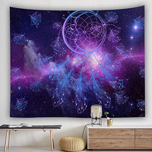 Clearance Sale!DEESEE(TM)Colorful Dream Catcher Tapestry Bohemia Hippie Wall Hanging Bedspread Dorm Decor (B)