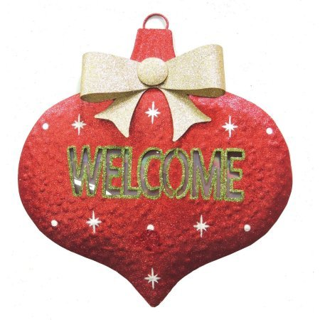 holiday-time-welcome-metal-hanging-decor-with-6-led-and-timer