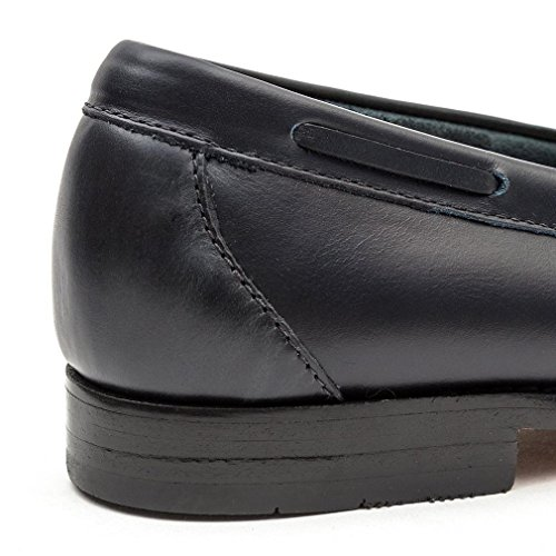 Bass Layton Pull Up Kiltie Navy Leather Loafers-UK 11