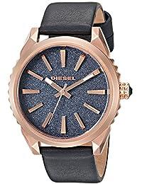 Diesel Ladies DZ5532 Nuki Rose Gold Blue Leather Watch