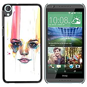 Paccase / SLIM PC / Aliminium Casa Carcasa Funda Case Cover - Woman Minimalist Lips - HTC Desire 820