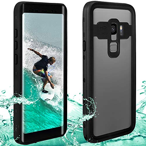 Feagar Waterproof case Compatible with Galaxy S9 Plus | Touchable Heavy Duty Protection Cellphone Cover | Underwater Full Body Shock-Proof Dirt-Proof Soft Casing for S9+