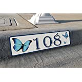 Butterfly, Curb, Mailbox, House Address Plaque, Reflective