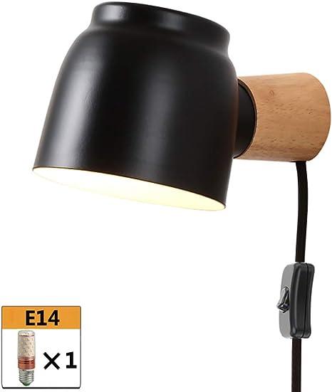 Wandleuchte Diele E14 Metall Schlafzimmer schwarz Wohnzimmer