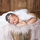 Disfraz de alas de ángel para bebé recién nacido, accesorio de fotografía con diadema en forma de flor