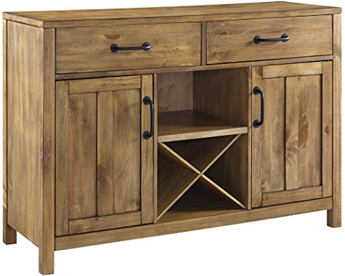 Wine Storage Credenza - Crosley Furniture Roots Buffet Dining Room Storage - Natural