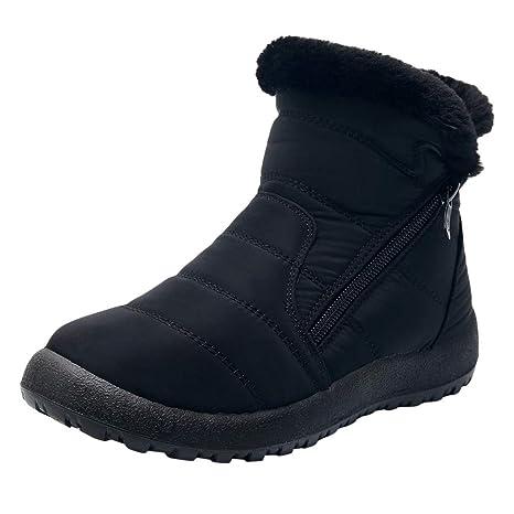 25bd2ef92 Amazon.com: Staron Women's Snow Boots Winter Ankle Short Bootie Side ...
