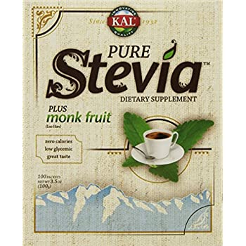 Pure Stevia Extract Plus Luo Han Powder - 100 Packets