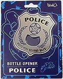 Police Chief Badge Behind Bars Bottle Opener