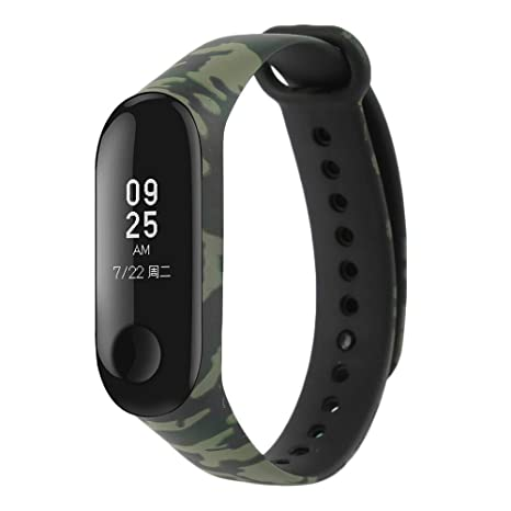 for Xiaomi Mi Band 3 Replacement Band, Camouflage Replacement Wristband Strap Accessories for Xiaomi Mi Band 3