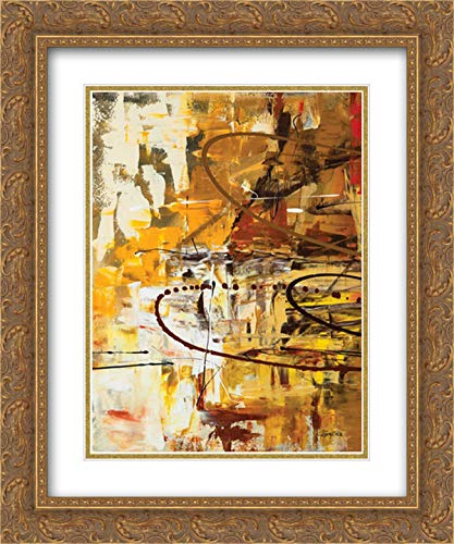 Funtastic I 15x18 Gold Ornate Frame and Double Matted Art Print by Guedez, Carmen