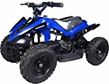 XtremepowerUS Mini ATV Outdoor Electric Mars 24V 350W Blue