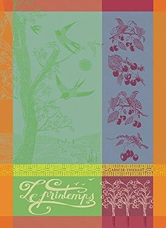 Amazon.com: Garnier Thiebaut, Printemps Azalee (primavera, azalea) - Tejido Francés toalla de cocina / té, algodón 100 por ciento: Home & Kitchen
