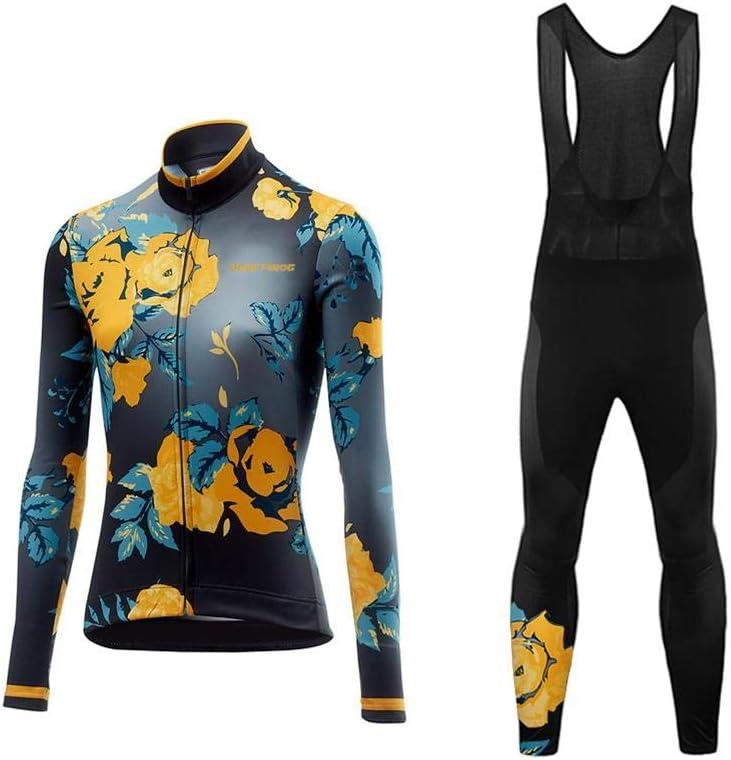 Uglyfrog Bike Wear Radsport Bekleidung Lady Langarm Trikots /& Shirts Fahrradbekleidung Winter Style with Fleece Dahrradjacke Damen