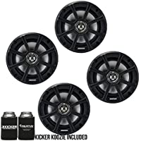 Kicker PSC65 6.5-Inch (160mm) PowerSports Weather-Proof Coaxial Speakers, 4-Ohm bundle