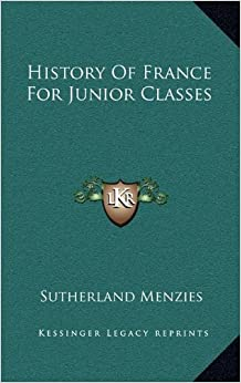 Book History Of France For Junior Classes