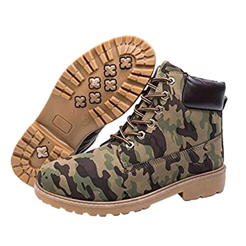 Haodasi New Mens Casual Boots Ankle Boot Shoes Trainers Lace Up Walking Work Footwear camouflage zJKgXvZ8