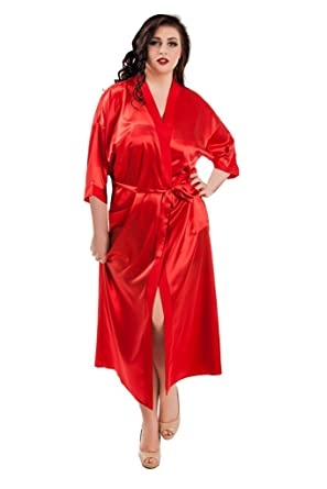 7a3228b93b2 Nine X -Long Satin Dressing Gown S-7XL