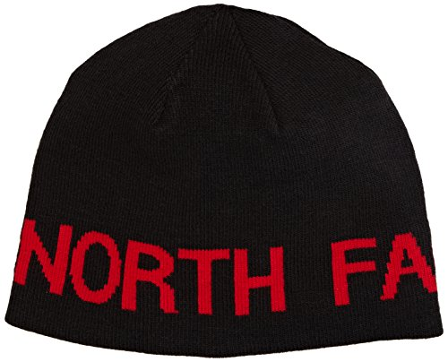 The North Face Reversible TNF Banner Beanie TNF Black/TNF Red One Size (The North Lightweight Face Beanie)