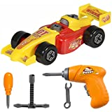 Best Choice Products Kids 23-Piece Assembly Toy Take-A-Part Drag Racing Car Set W/ Play Tools