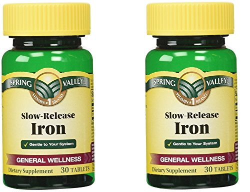 Spring Valley Slow Release Iron, 30 Tablets