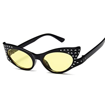 DFIHDCN Gafas de Sol Gafas de Sol Mujer Moda Rhinestone Gafas de ...