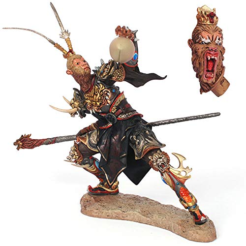 LS-Marvel Action Figure Fury Monkey King Hand Model, Chinese Famous Journey to The West Sun Wukong Qitian Dasheng Size 17cm Superhero Characters Model -