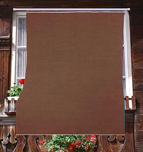 Tenda da Sole da Esterno per Balcone in Tessuto Resistente Misura cm 140x300 in 100/% Poliestere con Anelli Dis 5 Marrone