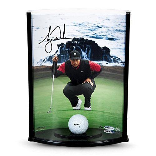 Tiger Woods Signed Autographed 8X10 Photo and Golf Ball Pebble Beach #/50 UDA