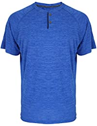 UPF 50+ Short Sleeve Performance Hanley Shirt For Men Casual Athletic Sports Dry Fit Tee With 2 Buttons