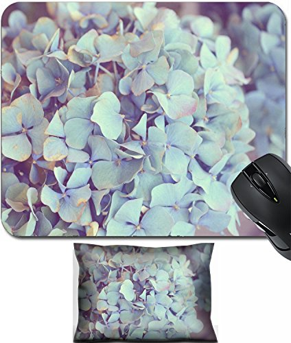 Dreamy Hydrangea (MSD Mouse Wrist Rest and Small Mousepad Set, 2pc Wrist Support design 23318288 Dreamy image of Hydrangea flower)