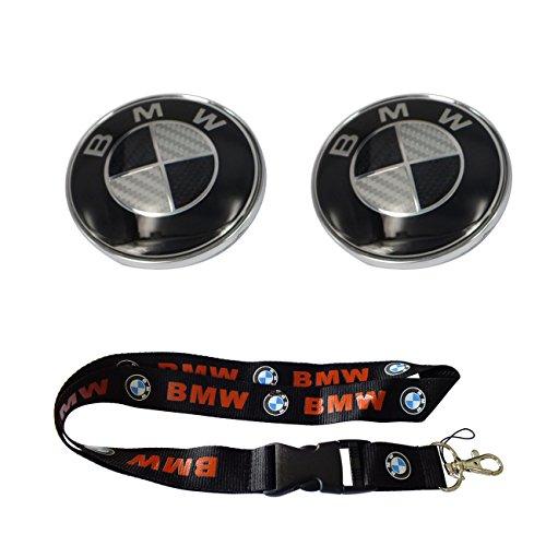 bmw emblem 82mm black - 2