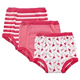 Luvable Friends Baby Cotton Training Pants, Pink Flamingo, 4T