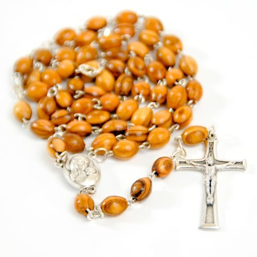 1 X Olive Wood Catholic Rosary with Water by My Caring Cross