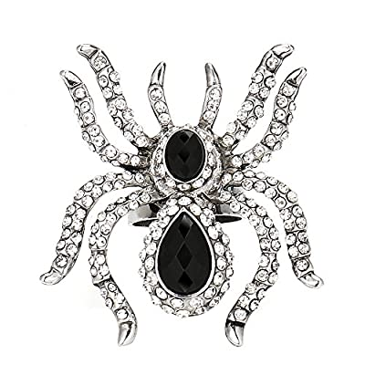 hot sell Black spider ring bling fashion jewelry adjustable 1 hot sale