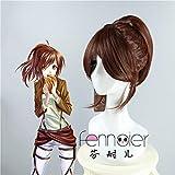 Anime Attack On Titan Sasha Braus Cosplay Wig Brown Chip Ponytails High Temperature Fiber Hair Wig Peluca