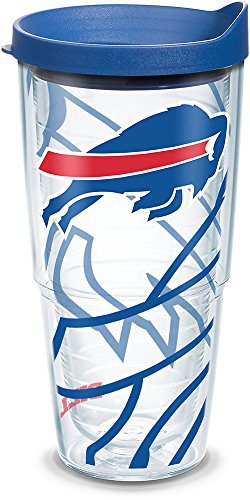 - Tervis 1290847 NFL Buffalo Bills Tumbler, 24 oz, Clear