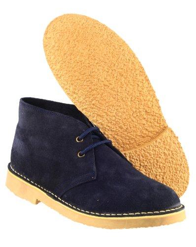 Chaussures Desert Bottines Lacets Hommes Velours À Navy Bottes Sahara Daim Cotswold 5RLAj4