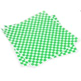 "Cakesupplyshop Item#766A- 100 Sheets 12x12"" Green and White Checkered Food Basket Liners & Wrapping Tissue"