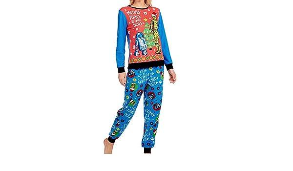 SušŠter y pantalones feos de la Navidad del pa?o grueso y suave de las mujeres pijamas fijados (medio 8-10): Amazon.es: Ropa y accesorios