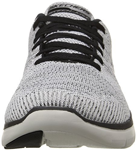 Skechers Mens Flex Advantage 2.0 Missing Link Sneaker,White/Black,US 8.5 W by Skechers