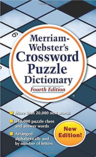 Merriam Webster S Crossword Puzzle Dictionary 4th Ed Mass Market Paperback Newest Edition Merriam Webster 9780877798194 Amazon Com Books