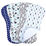 5-Pack Baby Burp Cloths for Boys, Triple Layer, 100% Organic Cotton, Soft and Absorbent Towels, Burping Rags for Newborns Baby Shower Gift Set by MiiYoung